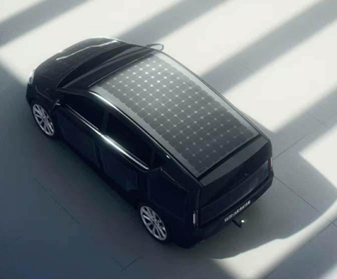 La carrocería del Sono Sion cuenta con 330 células solares