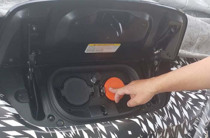 Puerto de carga del nuevo Nissan Leaf