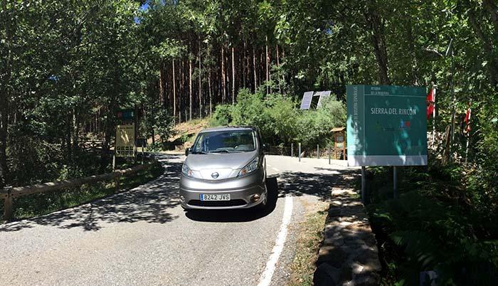 La Nissan e-NV200 que circula por la Sierra del Rincón de Madrid