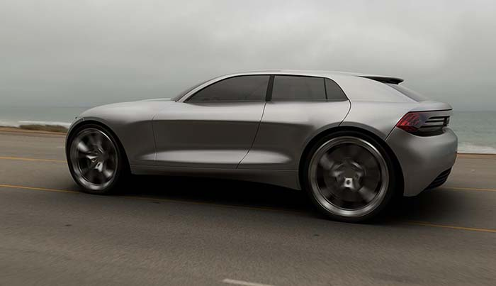 Render Audi Q4 e-tron concept-lateral trasera
