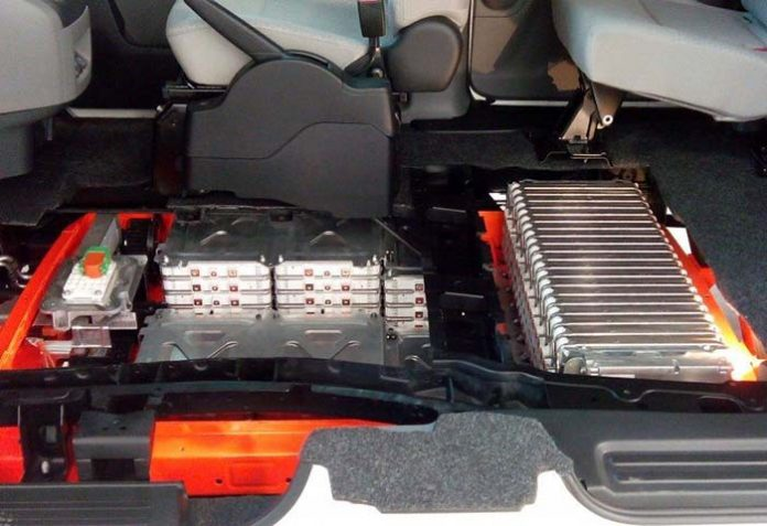 Batería actual de 24 kWh de la Nissan e-NV200
