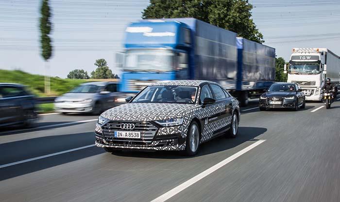 El Audi A8 será el primer vehículo del mercado en nivel 3 de conducción autónoma