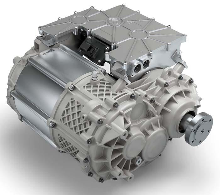 El e-axle incorpora el motor, la electrónica de potencia y la transmisión