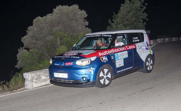 Eneko Conde y Marcos Domingo vencedores en eléctricos con un Kia Soul EV