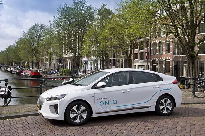 Hyundai Ioniq destinado al carsharing eléctrico en Amsterdam