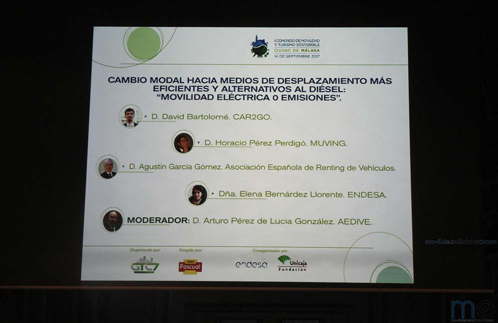 Mesa sobre movilidad eléctrica en el II Congreso de Movilidad y Turismo Sostenible Ciudad de Málaga