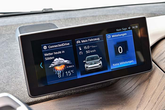 Nueva pantalla del salpicadero del BMW i3