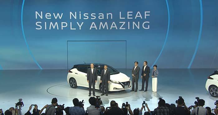 Presentación del nuevo Nissan Leaf en Tokio