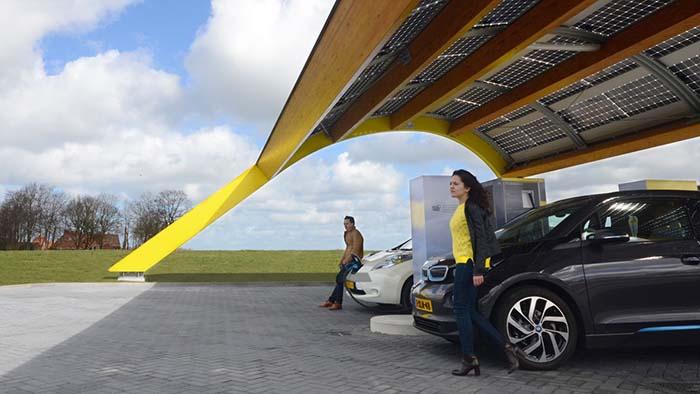 Estación de recarga de Fatnd en Holanda