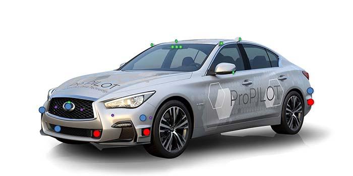 INFINITI Q50 modificado, el prototipo autónomo de Nissan con sistema ProPILOT avanzado a prueba en Tokio