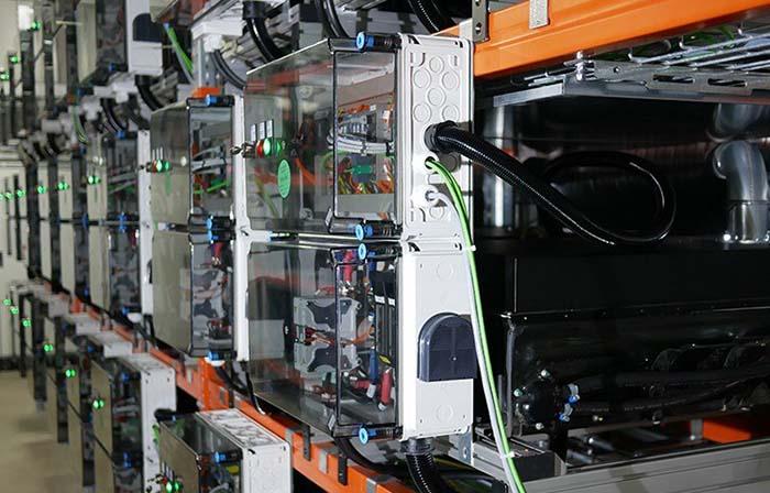 Instalación de segunda vida de las baterías de The Mobility House
