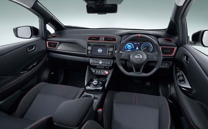 Interior del Nissan Leaf Nismo Concept