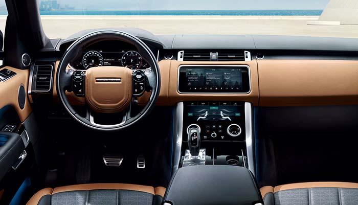 Interior del Range Rover Sport PHEV