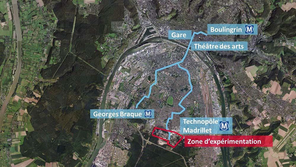 Los vehículos funcionarán en tres circuitos diferentes con una longitud total de 10 kilómetros