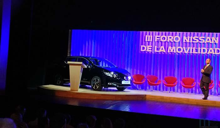 Marco Toro presenta el Nissan Leaf 2018 en el III Foro de la Movilidad de Nissan
