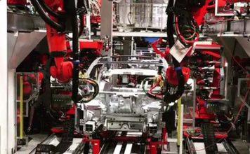 Primeras imágenes de la línea de producción del Model 3