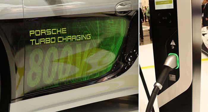 Sistema de carga ultra rápida Turbo Charging de Porsche