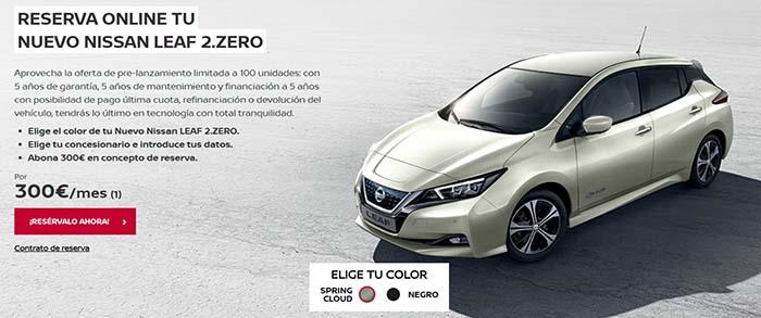 Ya se puede reservar el Nissan Leaf 2.Zero desde España