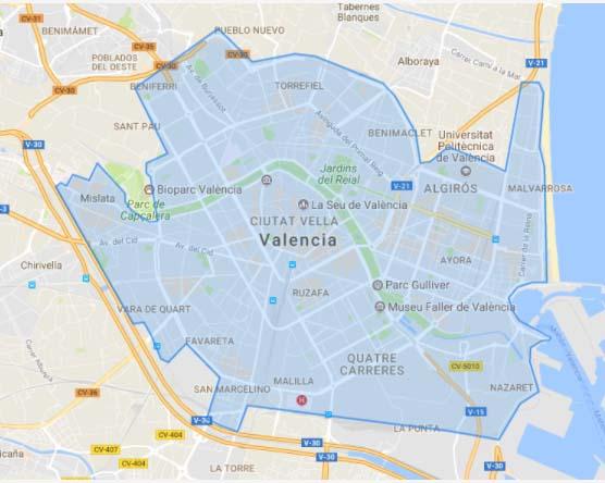Zona de servicio de Muving en Valencia