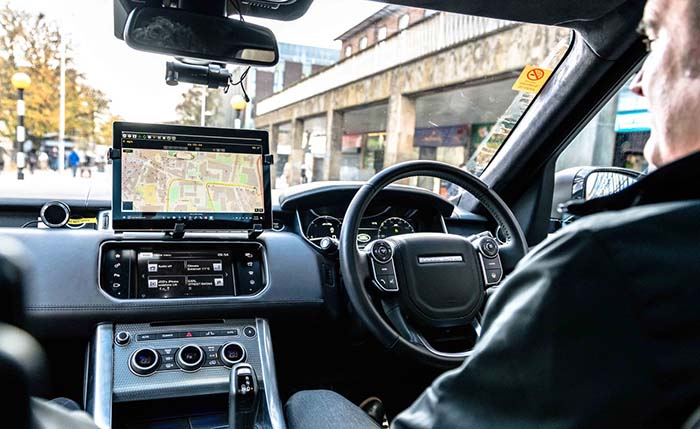 Interior del coche autónomo de Jaguar Land Rover