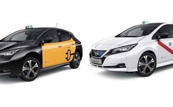 El nuevo Nissan Leaf versión taxi se presenta en Barcelona