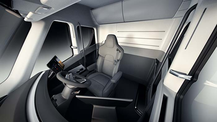 Interior Tesla Semi