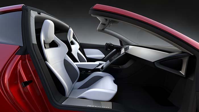Interior nuevo Tesla Roadster