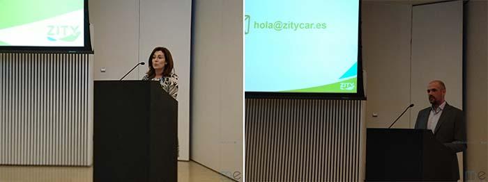 Javier Mateos, CEO de Zity y Paz Valiente Coordinadora General de Medioambiente, sostenibilidad y movilidad del Ayuntamiento de Madrid