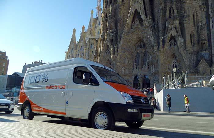 Maxus EV80 en Barcelona