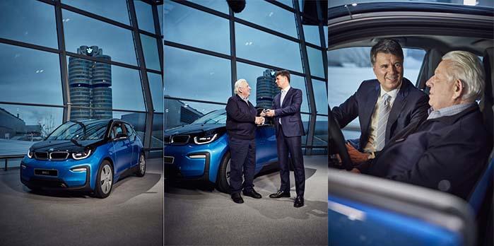 El automóvil número 100.000 fue un BMW i3 entregado a un conductor de 80 años en Alemania por Harald Kkrueger