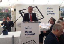 Lorenzo Vidal de la Peña, presidente de Ganvam, en el tradicional almuerzo con los medios de comunicación