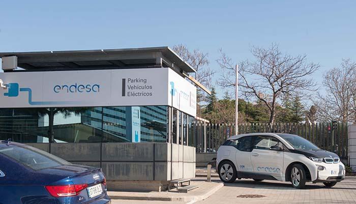 Parking de vehículos eléctricos de Endesa en Madrid