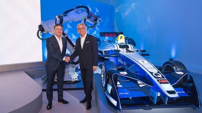 Alejandro Agag, fundador y CEO de Fórmula E y Ulrich Spiesshofer, CEO de ABB