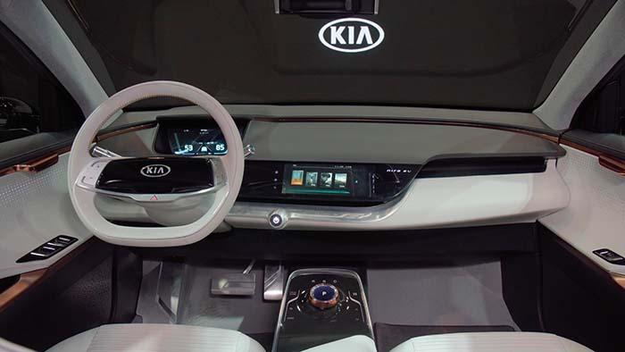 Interior del Kia Niro EV Concept