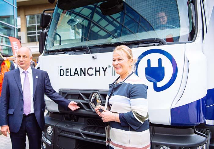 Renault Trucks y el Grupo Delanchy han desarrollado un camión totalmente eléctrico equipado con una caja refrigerada para la entrega de productos frescos