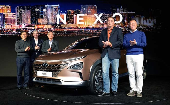 Hyundai presenta el NEXO FCEV en el CES 2018 en colaboración con Aurora Innovation