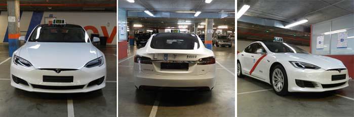 El Tesla Model S homologado para el servicio de taxi de Madrid