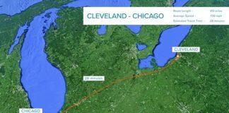 Conexión de Clevelando con Chicago mediante Hyperloop