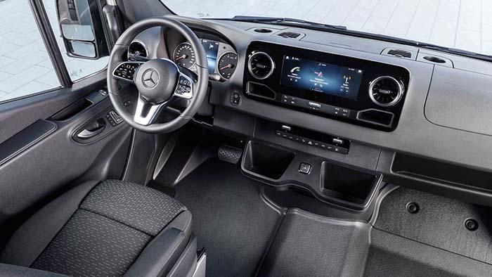 Interior de la Mercedes eSprinter
