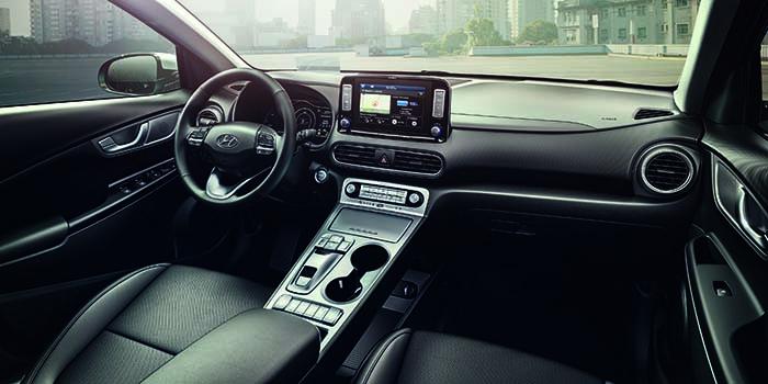 Interior del Hyundai Kona eléctrico