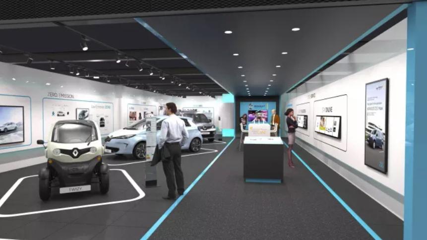 Interior del concept store de Renault