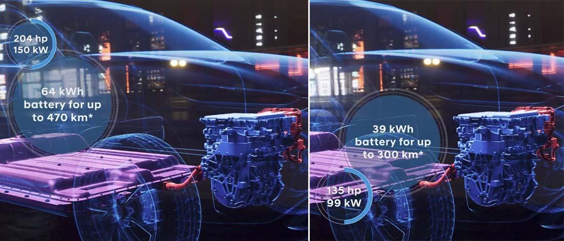 Las dos mecánicas del Hyundai Kona eléctrico