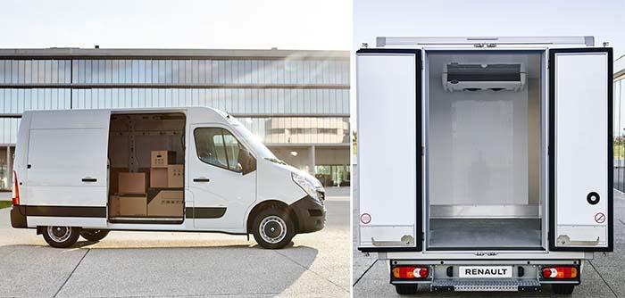 Renault Master ZE caja convencional y refrigerada