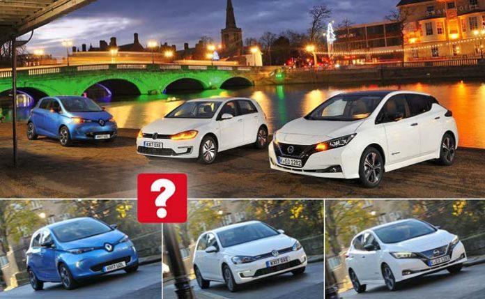 WhatCar compara el nuevo Nissan Leaf, el Volkswagen e-Golf y el Renault Zoe