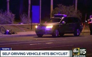 Un coche autónomo de Uber involucrado en un atropello mortal