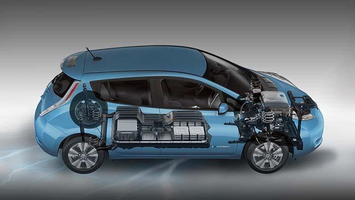 Componentes mecánicos del Nissan Leaf de primera generación