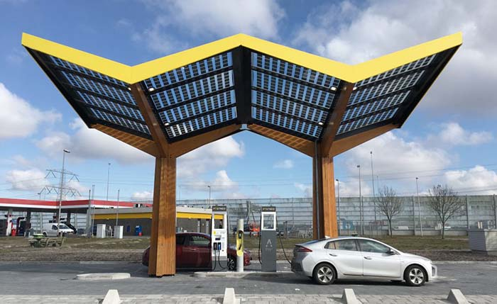 Estación de recarga de Fastned en Holanda