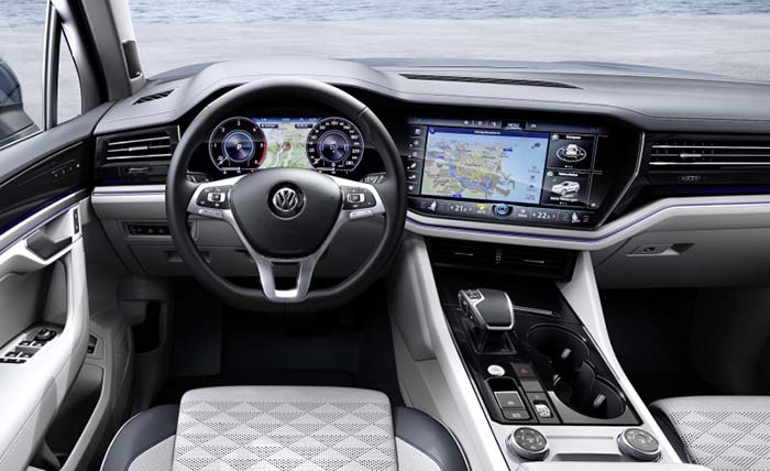 Interior del Volkswagen Touareg. Nueva instrumentación digitalizada Innovision
