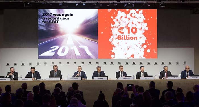 Presentación anual de resultados de SEAT a los medios de comunicación en Madrid
