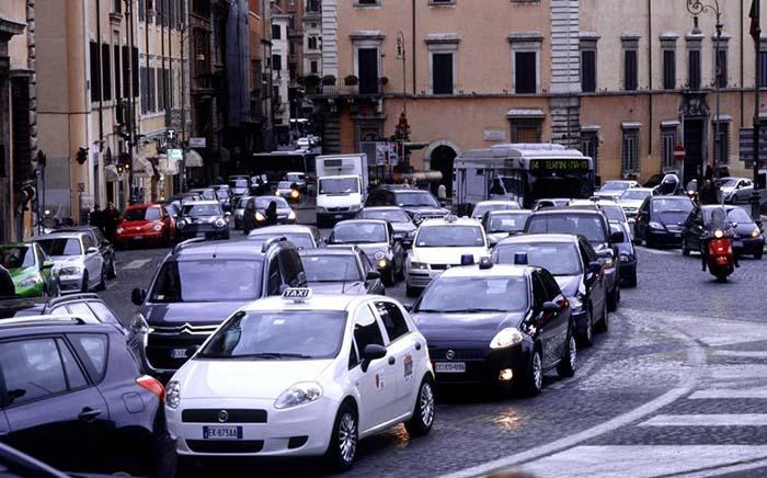 Roma es una de las ciudades más congestionadas del mundo